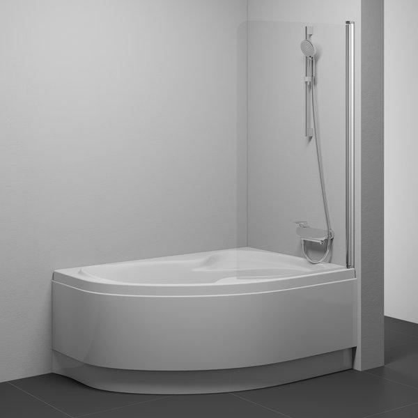 Paravent de baignoire cvsk1 rosa ravak a s - Paravent de baignoire ...