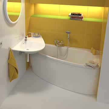 Solution pour les petites salles de bains ravak a s for Humidite salle de bain solution