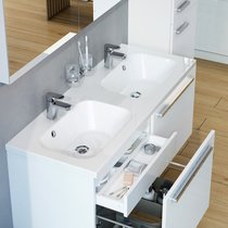 Lavabo double Chrome 1200